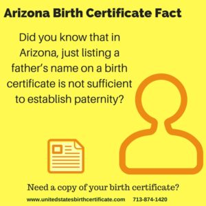 Arizona Birth Certificate Fact