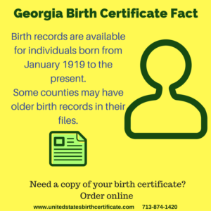 georgia birth certificate fact