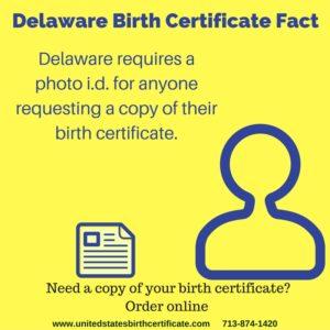 delaware birth certificate fact