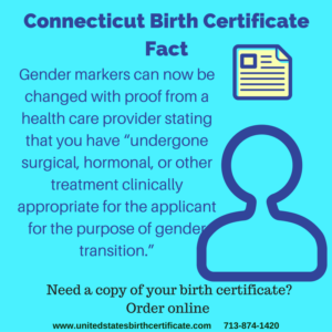 connecticut birth certificate fact
